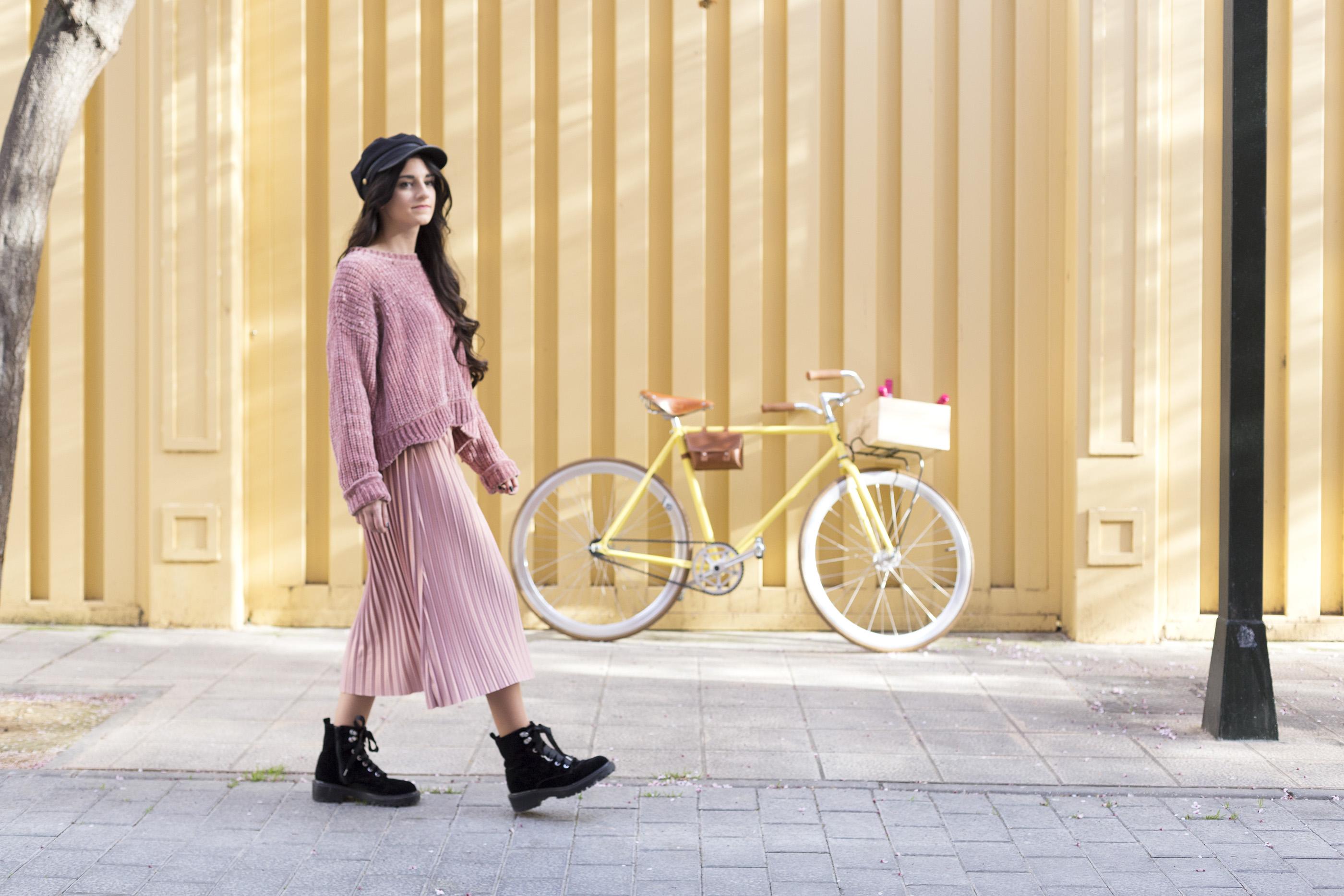 Look moda primavera con @almucaste, Almudena Castellano, en Atrezzo Peluqueria Zaragoza